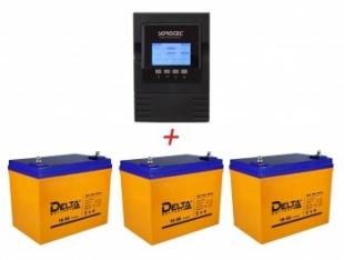 ИБП Sorotec 1KT-XL + 3 аккумуляторные батареи по 100 Ач